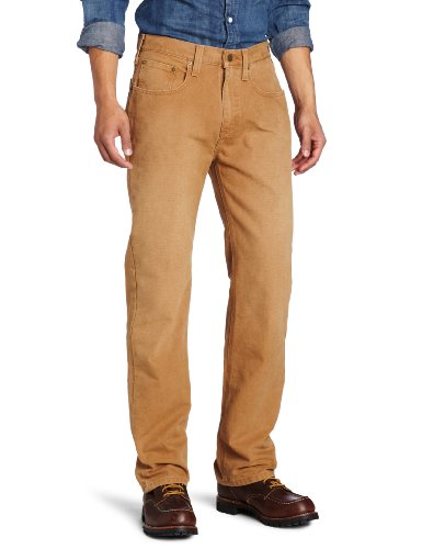 Carhartt Herren Weathered Duck 5 Pocket Hose im Relaxed Fit, W38/L34, Carhartt Brown, 1 Brown Ranch