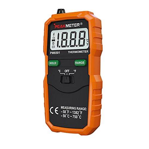 MagiDeal Digital Thermometer Temperaturmesser Mit Typ K Thermoelement Sensor Sonde