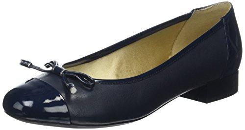 Geox D Wistrey F, Ballerines Femme Bleu (Navyc4002)