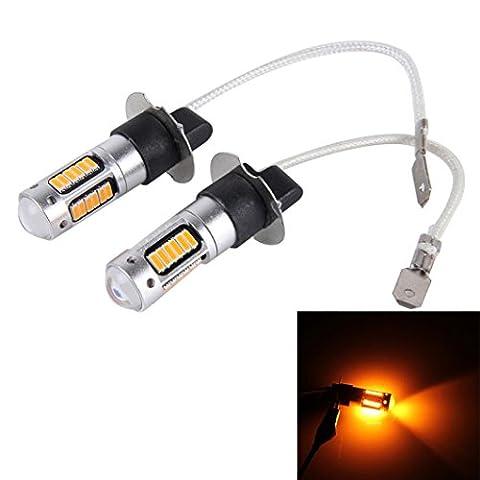 Auto LED Nebelscheinwerfer - Kingwo 2PC H3 4014 30SMD Birne High Power Auto LED Nebelscheinwerfer (orange)