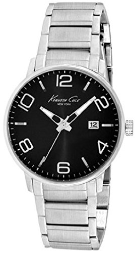 Wristwatch KENNETH COLE WATCH - NEW YORK S/S GENT S/S BRACELET BLACK DIAL DATE 3 ATM 42mm KC9303