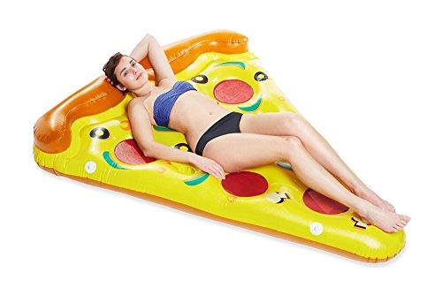 Pizza Stück Luftmatratze 175 x 65 cm - Lustige Schwimmliege für Pool Schwimmbad Urlaub Strand Meer