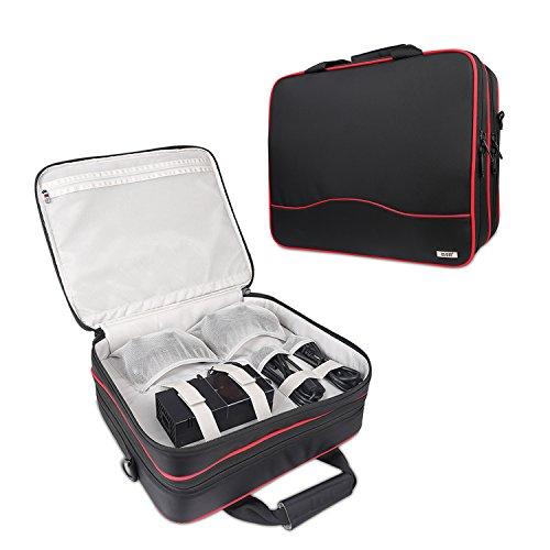 XBOX ONE Aufbewahrung Taschen - BUBM Tragetasche Tasche für Reisen mit verstellbarem Schultergurt Pour Xbox one, xbox 1s, xbox 360, PS4 und Zubehör , 2 JAHRE GARANTIE (Benutzerdefinierte Ps4-konsole)