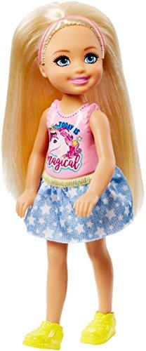 Barbie Mattel Club Chelsea - Chelsea avec T-Shirt Licorne - Figurine 15cm
