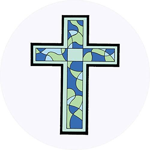 den 'Glasmalerei Kreuz' Aufklebern / Stickers (SK00016162) ()
