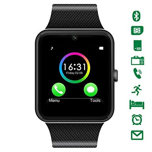 CHEREEKI Bluetooth Smartwatch mit Kamera Unterstützt SIM-Karte & TF-Karte Handy-Armbanduhr Touchscreen Smartwatch Schrittzähler-Armband für Android Smartphones (Sim-karte Smartphone Mit)