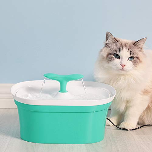LEIYING 2.8L Automatischer Brunnen-Katzen-Wasserspender-Haustier-Frisches Trinkendes System Multi-Grade Carbon-Filter-Statischer Energiesparender Brunnen -