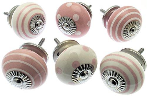 vintage-chictm-mg-257-set-di-pomelli-misti-in-ceramica-per-credenza-confezione-da-6-pezzi-colore-ros