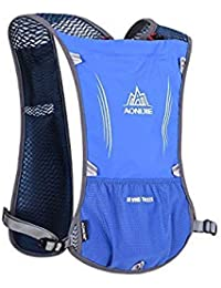 58d382a1be Blue : Aonijie New Outdoor Running Water Hydration Backpack Hiking Cycling  Lightweight Sport Bag with Bottle