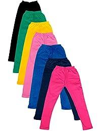 IndiWeaves Girls Cotton Super Soft Full Ankle Length Leggings (Pack of 7)