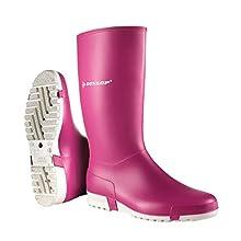 Dunlop Protective Sport Retail, Bottes en Caoutchouc de sécurité Mixte Adulte, Rose (Pink 003), 39 EU