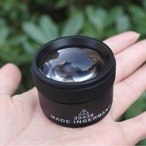 Jiayuane Portátil 30x36mm joyero óptica lupas lupa lupa bolsillo del lazo
