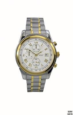 Sekonda 3878.27 - Reloj analógico de cuarzo para hombre con correa de acero inoxidable de Sekonda