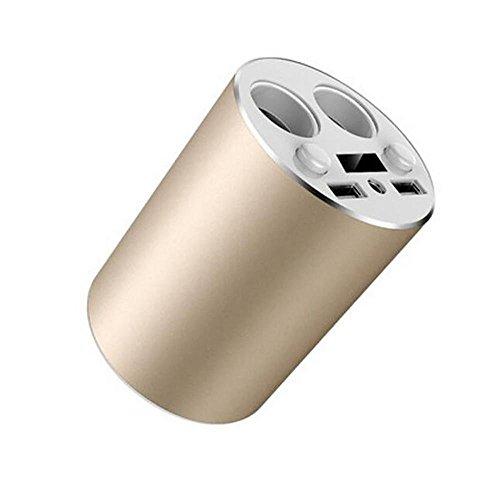 adegerät mit Telefonen Inhaber Laden über USB Ports Zigarettenanzünder und Batterie Überwachung Auto Power Adapter für (Hand-lkw-erweiterung)