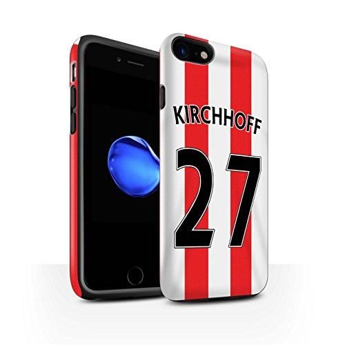 Officiel Sunderland AFC Coque / Matte Robuste Antichoc Etui pour Apple iPhone 7 / Van Aanholt Design / SAFC Maillot Domicile 15/16 Collection Kirchhoff