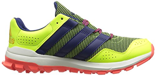 Adidas Performance Slingshot Trail Running Shoe, bleu / raw pourpre / bleu, 5 M Us Yellow/Midnight Indigo Blue/Red