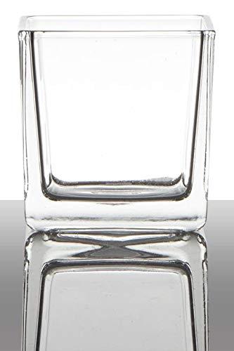 INNA-Glas Set 6 x Teelichthalter Kim, Würfel - Viereckig, klar, 8x8x8cm - Kerzenglas - Kerzenhalter