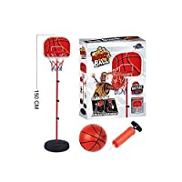 Flicker Free Standing Basketball With Adjustable Stand 155cm Set Hoop Net Backboard Ball