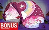 Magic Dreams Märchen Pop Up Tunnel Zelt Spieltunnel Höhle für Hochbett Kinderbett Bogen Bettzelt Bettdach rosa pink