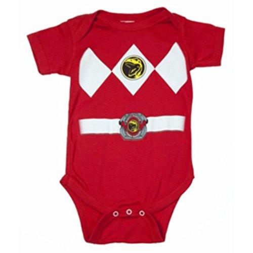 Power Rangers rot Baby Ranger Kostüm Strampler Onesie (6-12 Monate)