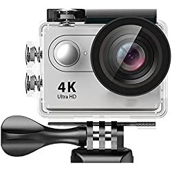 LOVEPET Caméra de Sport, 4K Ultra HD, caméra de plongée, WiFi avec télécommande, Sports de plongée, 60X45X29mm White