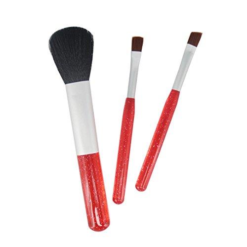 Brush Cosmétique, Kingwo Nouveau Core Collection Blush Powder Setting Brushes Voyage (Rouge)