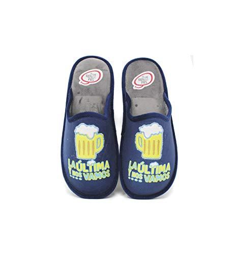 Se me ríen los pies - Zapatillas de casa Hombre la última y Nos Vamos - Marino, 43