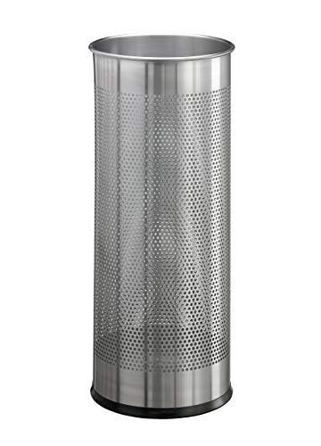 Durable 337123 Schirmständer (aus Edelstahl rund 28,5 Liter) silber