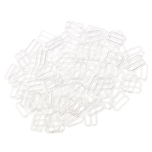 MagiDeal 100pcs Dessous Einstellbar Nähen BH Ringe Schnallen - Klar, 12 mm