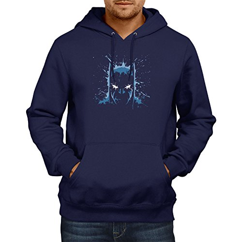 TEXLAB - The Bat Splash - Herren Kapuzenpullover, Größe XL, navy (Batman Dark Knight Returns Kostüme)
