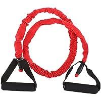 Baoblade Baoblaze Banda Elasticá de Yoga Accesorio de Ejercicio de Salud Multisuos de Latex Duradero - rojo