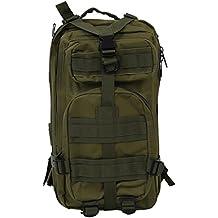 SODIAL(R) 30L Mochila Militar Tactica para Senderismo Campamento al Aire Libre - Verde