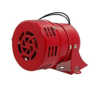 Cikuso AC 220 V Rotes Metall Motorbetriebener Luftangriff Sirene Horn Alarm