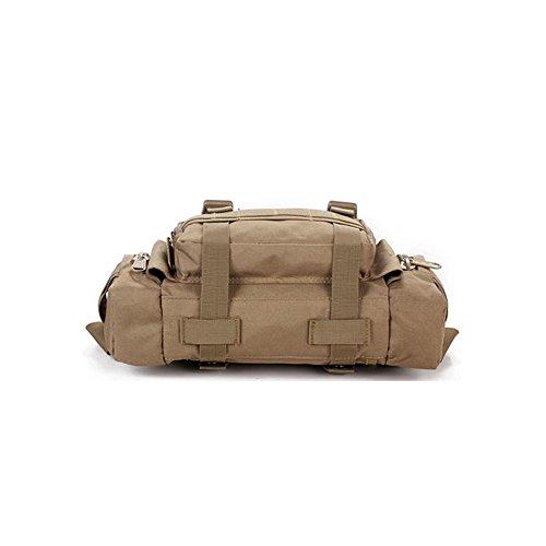 Lmeno Multifunktionale Militaer Taktisch Gürteltasche 600 D Oxford Fabric langlebig Bauchtasche Hüfttasche Taktische Tasche Umhängetasche Schultertasche Bauchtasche Gürteltasche Hüfttaschen Tactical M Khaki