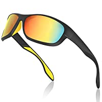 Avoalre Cycling Glasses Sports Ski Sunglasses, Polarised, TR90 Frame, Nano Anti Oil Film Unisex for Men Women Cycling, Running, Fishing, Outdoor,100% UV Protection, Durable - Green