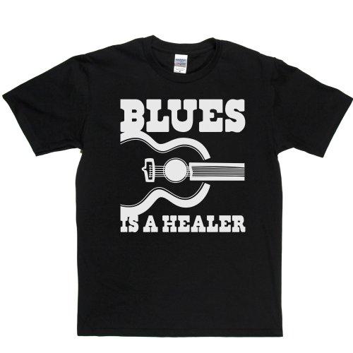 Blues is a Healer Blues Music Genre T-shirt Schwarz