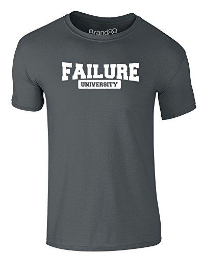 Brand88 - Failure University, Erwachsene Gedrucktes T-Shirt Dunkelgrau/Weiß