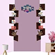 Acco & Deco Set of Two Zigzag Corner Wall Mount Shelf Unit/Racks and Shelves/Wall Shelf/Book Shelf/Wall De