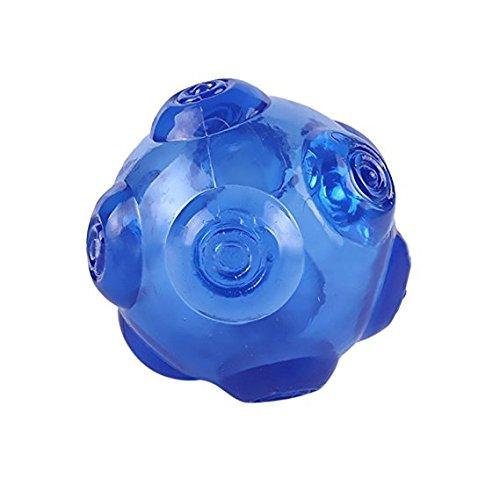 Louvra Hundespielzeug Hundeball aus Kautschuk Wasserdicht Federnd Springend Quietschgeräusch mit lautem Ton für Hunde im Freien Lauftraining Schwimmen (Orange/Gelb/Grün/Blau) -