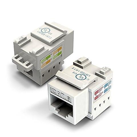 Ethernet Keystone, Gearit Cat6RJ45Punch-down Keystone Jack connecteur Unité