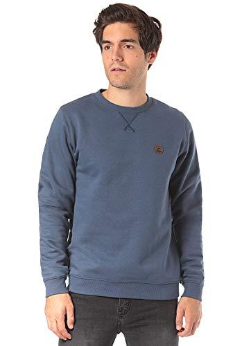 Lakeville Mountain Herren-Pullover Milo, vielseitiger Basic-Sweater, Sweat-Shirt, Pulli, Langarm-Shirt, Long-Sleeve, Navy Dunkel-Blau Marine-Blau, Größe L
