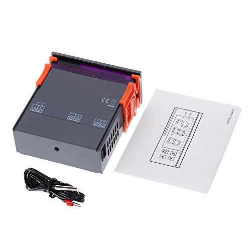 confronta il prezzo KKmoon 90~250V 10A Regolatore Controllore di Temperatura Termoregolatore Digitale Termocoppia -50~110 Gradi Centigradi con il Sensore miglior prezzo