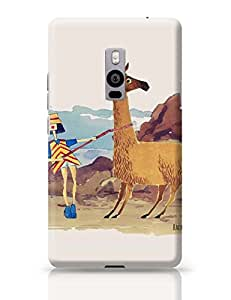 PosterGuy OnePlus Two Case Cover - Llama Girl | Designed by: thecurlyhairgirl