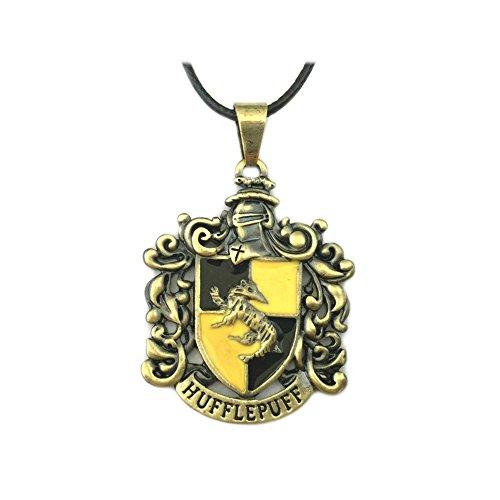 (Harry Potter Hufflepuff House Wappen Filmen Kostüm Cosplay Anhänger Halskette von Athena Marken)