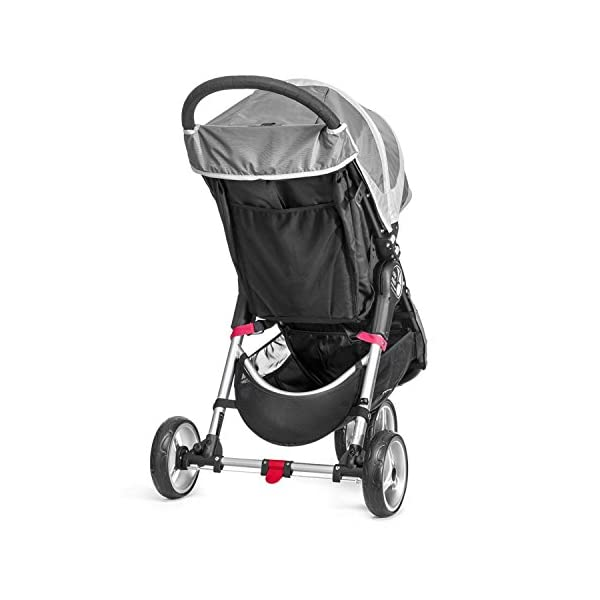 Baby Jogger City Mini Single Stroller Steel Grey Baby Jogger Suitable from birth, the City Mini Stroller is the essence of urban mobility: Lightweight, compact and nimble, its sleek and practical design makes it an ideal choice for traversing the urban jungle Lift a strap with one hand and the City Mini folds itself: Simply and compactly, it really is as easy as it sounds and the auto-lock will lock the fold for transportation or storage The fully reclining with vents and a retractable weather cover to make sure that your child is comfortable and safe as they watch the world go by the SPF 50+ hood canopy has two peek-a-boo windows so you can keep an eye on your precious cargo 4