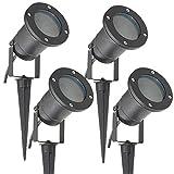 Long Life Lamp Company Luci per esterni ad incastro, GU10 IP65, 4 pezzi, Nero opaco, elettrico, metallo