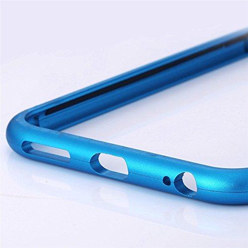 Bumper pour iPhone 6/6s Cover Case, Bandmax Coque pour Apple Métal Anti-chocs Housse pour Apple iPhone Chic Six Couleurs Options Protection pour Apple (Rose léger) bleu
