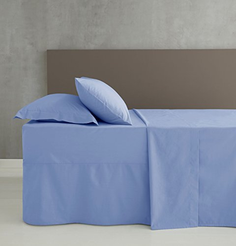 Catherine Lansfield Non Iron Percale Single Fitted Sheet – Cornflower