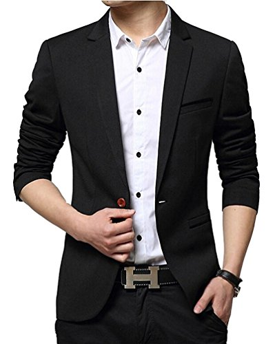 Brinny Herren Slim Fit Sakko Blazer Freizeit Business Jacke Anzugsjacke Jacket Anzugsjacke Mantel (Mantel Herren Sport Blazer)