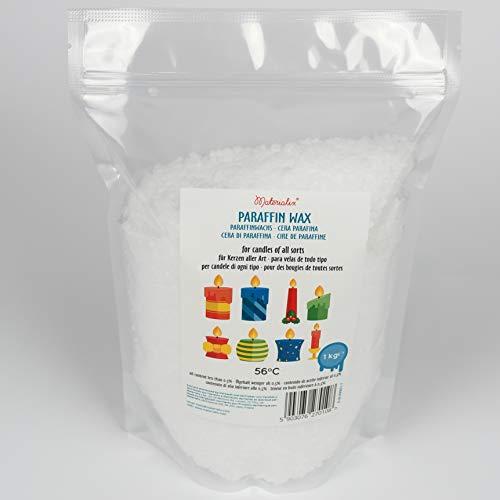 Materialix Paraffinwachs für Kerzen - Verschiedene Größen (1kg) - Kerzenwachs, Wachsgranulat pastillen, Kerzenwachs zum gießen